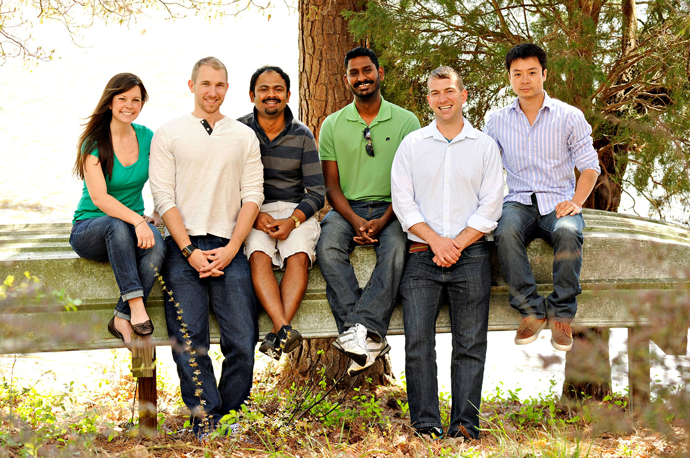 (Left to right) Amanda, Andrew, Senthil, Raja, Justin, and Pengyi